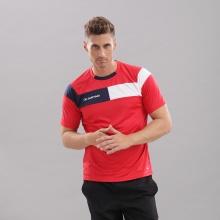 Áo thun nam không cổ ngắn tay Cordoba Jartazi (Poly T-Shirt Cordoba) JA4040M (đỏ phối xanh)