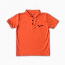 Áo thun có tay thêu logo Vinakids màu cam 7-12 tuổi