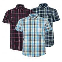 Bộ 3 áo sơ mi ngắn tay sọc caro thời trang SMC9254