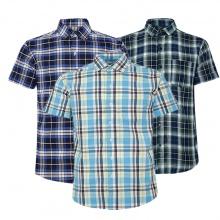 Bộ 3 áo sơ mi ngắn tay sọc caro thời trang SMC018