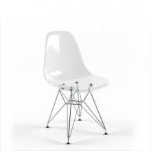 Ghế nhựa trong suốt Kachi Eames chân thép