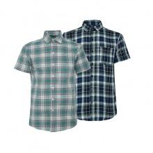 Bộ 2 áo sơ mi ngắn tay sọc caro thời trang SMC022
