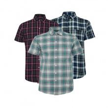 Bộ 3 áo sơ mi ngắn tay sọc caro thời trang SMC023