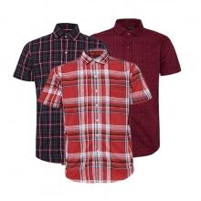 Bộ 3 áo sơ mi ngắn tay sọc caro thời trang SMC024