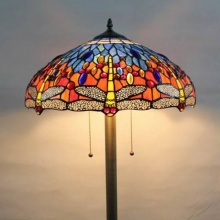 Đèn cây đứng kiểu dáng Tiffany chuồn chuồn