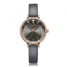 Đồng hồ nữ dây da chính hãng Julius Hàn Quốc JA-1115E (xám)