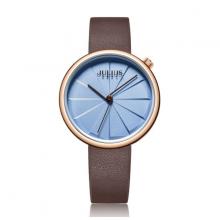 Đồng hồ nữ dây da chính hãng Julius Hàn Quốc JA-1106D (Nâu)