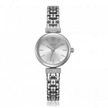 Đồng hồ nữ ja-1139a julius hàn quốc dây thép - bạc