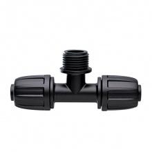 Nối ren (3 ngã) chuyển đổi từ ống phi 16mm ra ren ngoài 21mm Claber 91017