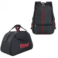 Combo ba lô, túi du lịch Ronal CB01 - Đen đỏ