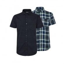 Bộ 2 áo sơ mi ngắn tay sọc caro thời trang SMC081