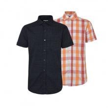 Bộ 2 áo sơ mi ngắn tay sọc caro thời trang SMC084