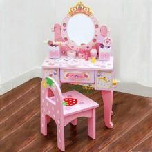 Bộ đồ chơi bàn trang điểm cho bé gái ( đồ chơi bằng gỗ tự nhiên an toàn cho bé)