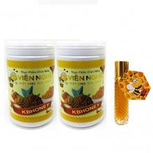 Combo 2 viên nghệ mật ong sữa chúa KB 500G tặng thỏi lăn môi mật ong