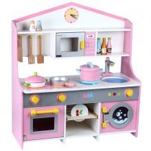 Bộ bếp gỗ cao cấp hình ngôi nhà như mơ cho bé cao 72cm