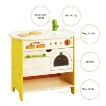 Bộ đồ chơi mô hình bếp và lò nướng gỗ cao cấp Ed Inter