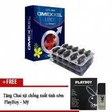 Viên uống tăng cường sinh lý và sức khỏe nam giới Omexxel Libido (30 viên) + tặng 1 chai xịt chống XTS Playboy 5ml