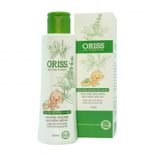 Sữa tắm gội em bé ngừa rôm sẩy nhẹ dịu không cay mắt Oriss Baby