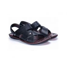 Sandals nam cao cấp Pierre Cardin - PCMFWLB112BLK