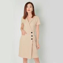 Đầm công sở thời trang Eden cổ vest tay ngắn - D323