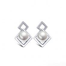 Bông tai nữ hàn quốc đính hạt quý phái  - Tatiana - BB3191 (bạc)
