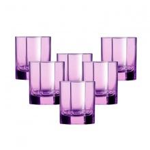 Bộ 6 ly thủy tinh thấp 300ml Luminarc Octime Solid Pink-J4507