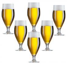 Bộ 6 ly bia có chân thủy tinh Cervoise 500 ml - J9196