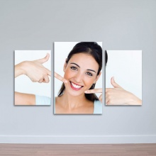 Bộ 3 tranh nụ cười rạng rỡ - Tranh phòng răng đẹp - W1382