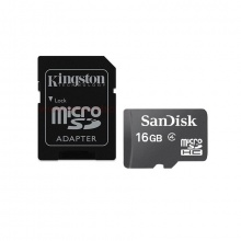 Combo thẻ nhớ Sandisk micro SDHC 16GB C4+ Adapter kingston