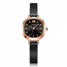 Đồng hồ nữ JS-026D Julius star Hàn Quốc dây thép (đen)