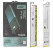Combo Pin sạc dự phòng LOVESN P110 (10000mAh) (BB) +Dây Cáp Sạc chính hãng LDNIO SY-03 iphone (1m)