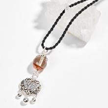 Dây chuyền đá thạch anh ưu linh mặt túi như ý heo bạc Ngọc Quý Gemstones