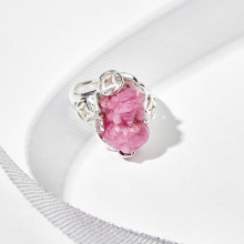 Nhẫn bạc mặt tỳ hưu đá ruby - Ngọc Quý Gemstones