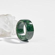 Nhẫn phong thủy càn long đá cẩm thạch sơn thủy aaa Ngọc Quý Gemstones
