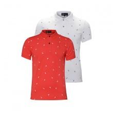 Bộ 2 áo thun in cánh buồm AT017 -  đỏ, trắng
