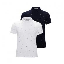 Bộ 2 áo thun in cánh buồm AT018 -  trắng, xanh đen