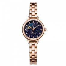 Đồng hồ nữ JA-1157E Julius Sun and Moon dây thép (đồng xanh đậm)