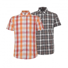 Bộ 2 áo sơ mi ngắn tay sọc caro thời trang SMC274
