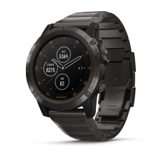 Đồng hồ thông minh Garmin Fenix 5x Plus, Sapph, DLCCarbon Gray w/BkBand, GPS, SEA