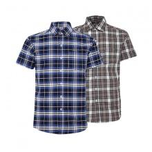 Bộ 2 áo sơ mi ngắn tay sọc caro thời trang SMC276