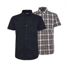 Bộ 2 áo sơ mi ngắn tay sọc caro thời trang SMC277