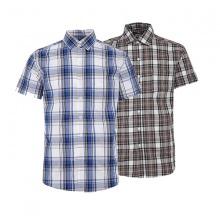 Bộ 2 áo sơ mi ngắn tay sọc caro thời trang SMC2710