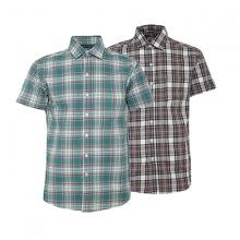 Bộ 2 áo sơ mi ngắn tay sọc caro thời trang SMC2712