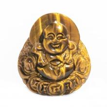 Mặt dây chuyền Phật Di Lặc đá mắt hổ vàng tự nhiên size lớn