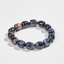 Vòng tay đá giông bão xanh đen (Pietersite) -  Ngọc Quý Gemstones