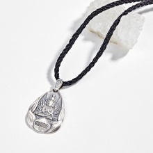 Mặt dây chuyền phong thủy bạc phật thiên thủ thiên nhãn tuổi tý Ngọc Quý Gemstones