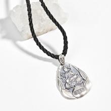 Mặt dây chuyền phong thủy bạc phổ hiền bổ tát tuổi thìn, tỵ Ngọc Quý Gemstones