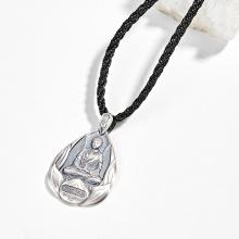 Mặt dây chuyền phong thủy bạc phật a di đà tuổi tuất, hợi Ngọc Quý Gemstones