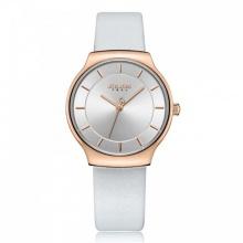 Đồng hồ nữ JA-1156LA Julius Hàn Quốc dây da (trắng)