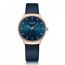 Đồng hồ nữ JA-1156LC Julius Hàn Quốc dây da (xanh)
